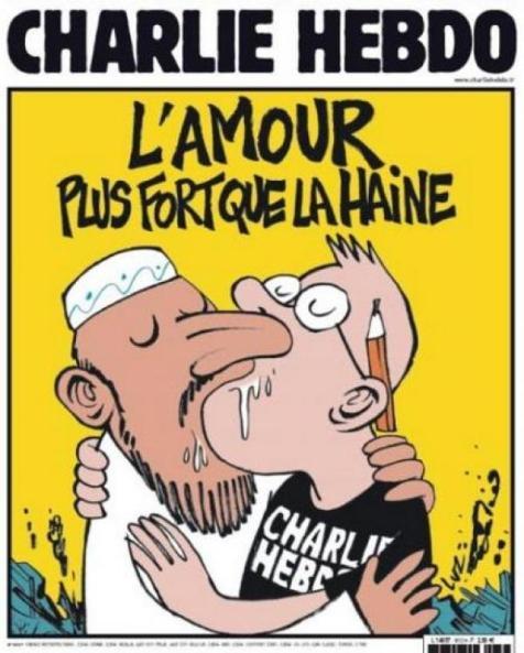 charlie hebdo - L'amour plus fort que la haine  07/01/2015