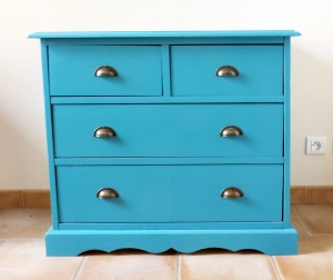 Commode turquoise