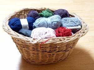 Corbeille pour laine