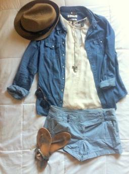 Look d'été bleu jean