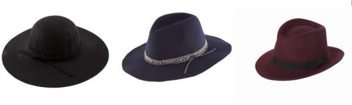 trio de chapeau
