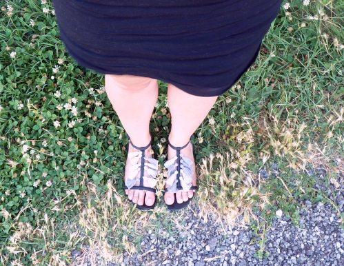 rendu diy custo chaussure pompom