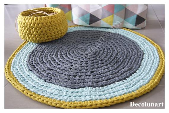 textiles-et-tapis-tapis-trapilho-moutarde-gris-et-ve- DECO LUNA